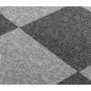 源优邦 办公室地毯拼接方块铺满卧室客厅房间宿舍公司工程写字楼地毯垫子 (303烟灰色+305黑灰色) 1平方价:50x50cm【4片】送4张贴片
